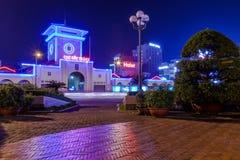 Рынок Бен Thanh на ноче Стоковая Фотография RF