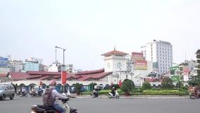 Рынок Бен Thanh сток-видео