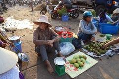Рынок Вьетнам утра Стоковое Фото