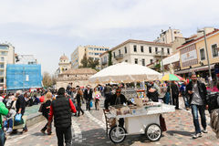 Рынок в Афинах, Греции стоковое фото