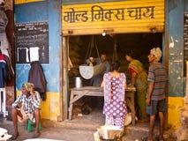 Рынок в городе Индии Стоковая Фотография