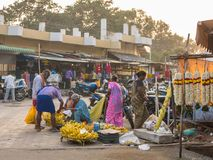 Рынок в Mettupalayam, Tamil Nadu, Индии стоковые изображения