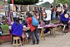 Рынок в Silvia, Колумбии Стоковая Фотография