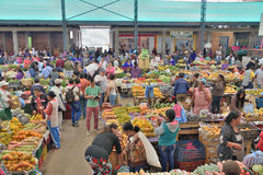 Рынок в Silvia, Колумбии Стоковые Изображения RF