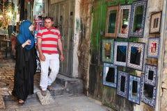 Рынок города Иерусалима старый стоковые изображения rf