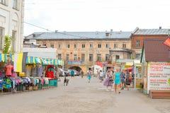 Рынок города в центральной части Vologda Стоковое Изображение