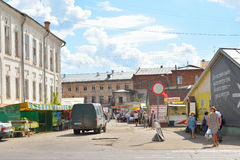 Рынок города в центральной части Vologda Стоковые Изображения