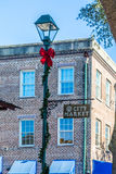 Рынок города на рождестве Стоковое фото RF