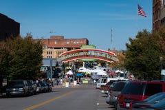 Рынок города около реки в Kansas City Миссури Стоковая Фотография RF