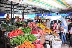 рынок еды свежий крытый Стоковая Фотография
