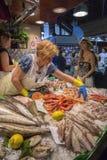 Рынок еды Barcelona известный - Испания Стоковое фото RF