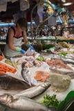 Рынок еды Barcelonas известный - Испания Стоковые Фото
