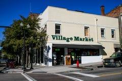 Рынок деревни, Уилмингтон, NC Стоковые Фото