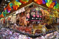 Рынок еды в Барселоне. Стоковые Изображения