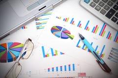 рынок диаграмм дела анализа медицинский стоковое изображение rf