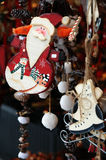 Рынок и Санта рождества Стоковые Изображения RF