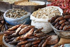 Рынок и специи бакалеи Стоковое Фото