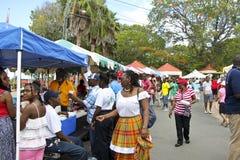 Рынок карибской еды справедливый Стоковое Изображение RF