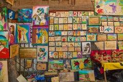 Рынок картин в Тбилиси, Georgia Стоковые Фото