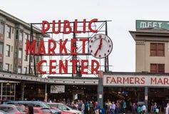 Рынок места Pike, Сиэтл, Вашингтон Стоковая Фотография RF