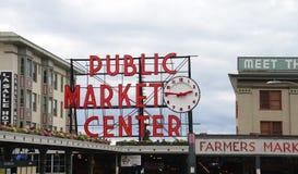 Рынок места Pike Сиэтл городской Стоковые Изображения RF