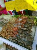 Рынок морепродуктов в привлекательности популярной в Таиланде Стоковая Фотография RF