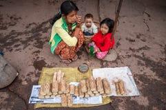 Рынок Мьянмы Стоковое Фото