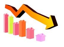 рынок недвижимости бюста иллюстрация штока