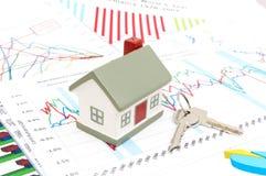 рынок недвижимости принципиальной схемы Стоковое Изображение