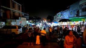 Рынок ночи в Янгоне, Мьянме сток-видео