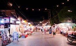 Рынок ночи на районе pai в Таиланде Стоковая Фотография