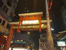 Рынок ночи улицы виска стоковые изображения