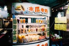 Рынок ночи улицы Raohe, Тайбэй, Тайвань Стоковые Фото