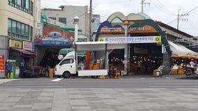 Рынок острова Jeju влажный стоковые изображения