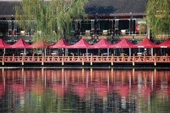 Рынок лотоса в Houhai, Пекине Стоковая Фотография