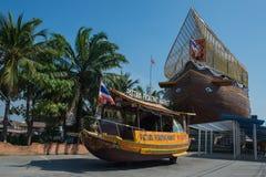 Рынок Паттайя плавая, провинция Chonburi, Таиланд Стоковое Фото