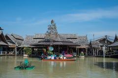 Рынок Паттайя плавая, провинция Chonburi, Таиланд Стоковая Фотография RF