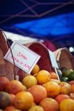 Рынок плодоовощ Стоковые Изображения