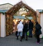 Рынок праздника соединения квадратный в Манхаттане Стоковое Фото