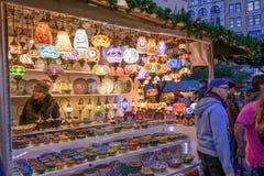 Рынок праздника соединения квадратный в Манхаттане Стоковые Изображения RF