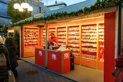 Рынок праздника соединения квадратный в Манхаттане Стоковая Фотография RF