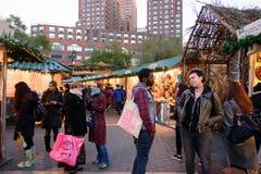 Рынок праздника соединения квадратный в Манхаттане Стоковые Фото