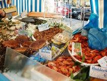 Рынок продукта моря Стоковые Изображения