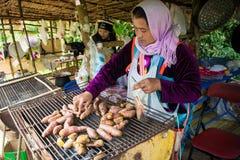 Рынок племени холма стоковое изображение
