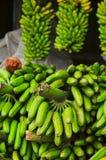 Рынок плодоовощ, бананы Стоковое фото RF