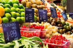 Рынок плодоовощ & овоща Стоковая Фотография