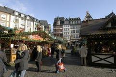 Рынок рождества в Франкфурт стоковые изображения rf