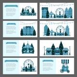 Рынок рождества зимы справедливый, счастливый Новый Год и город Европы рождества, стойлы сувенира, сувенирные магазины, колесо Fe бесплатная иллюстрация