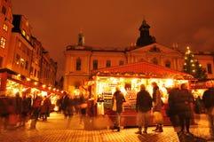 Рынок рождества Стоковые Изображения