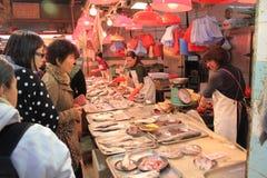 Рынок свежих продуктов Гонконга стоковые изображения